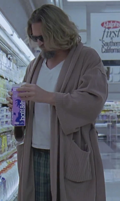 Jeff Bridges with Frette at Home Unisex Milano Terry Bathrobe in The Big Lebowski