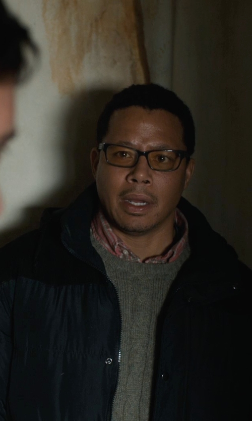 Terrence Howard  with Guess Coat Hooded Down Performance Puffer Jacket in Prisoners