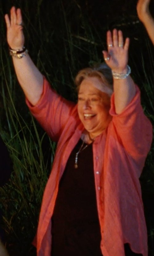 Kathy Bates with Sejour Short Sleeve Scoop Neck Tee in Tammy