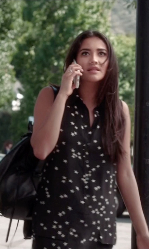 Shay Mitchell with LeSportsac Voyager Backpack in Pretty Little Liars