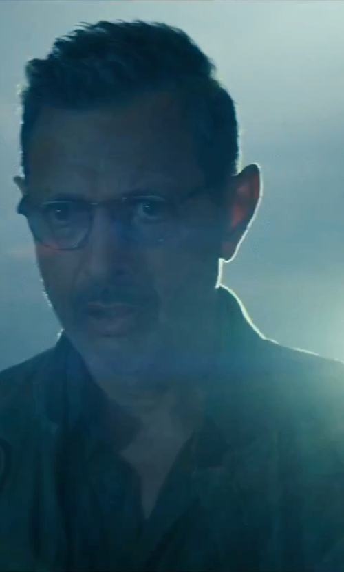 Jeff Goldblum with Stampd Scalloped Bomber Jacket in Independence Day: Resurgence