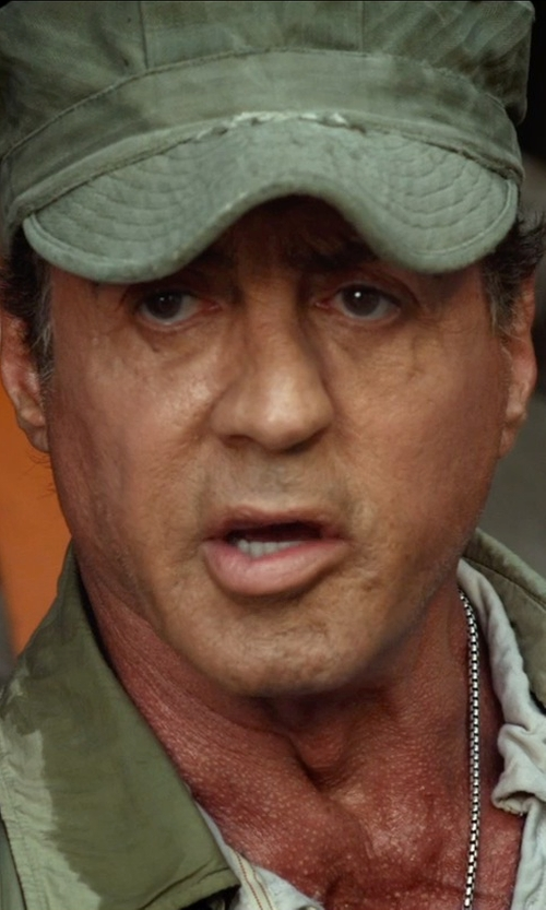Sylvester Stallone with Stetson Austin Waxed Cotton Military Cap in The Expendables 3