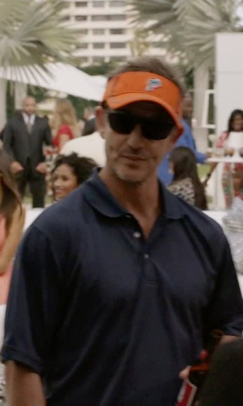 Peter Berg with John Varvatos Collection 'Hampton' Silk & Cotton Polo Shirt in Ballers