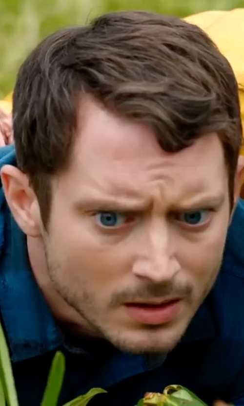 Elijah Wood with Rag & Bone Beach Shirt in Dirk Gently's Holistic Detective Agency