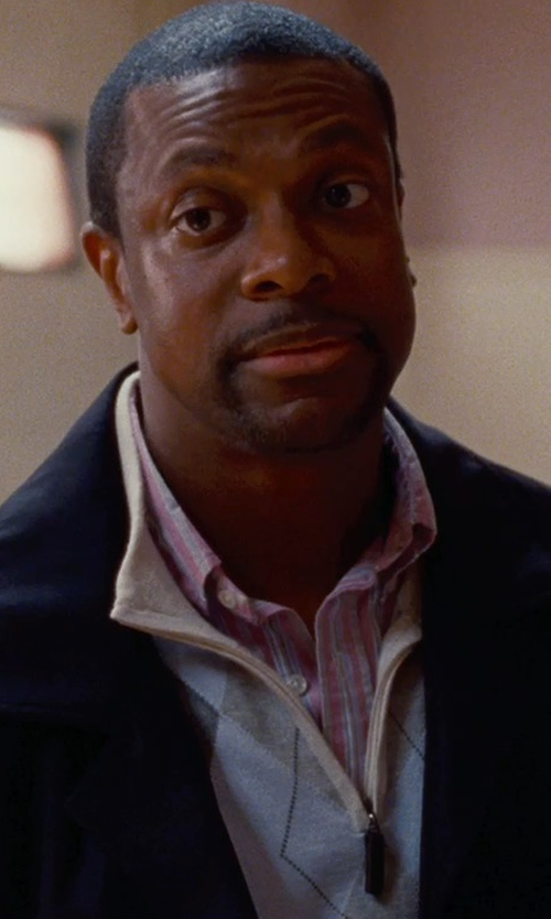 Chris Tucker with Peter Millar 'Interlock' Quarter Zip Pullover in Silver Linings Playbook