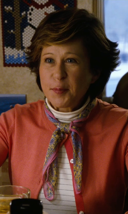 Yeardley Smith with Planet Gold Juniors' Striped Raglan Turtleneck Top in New Year's Eve