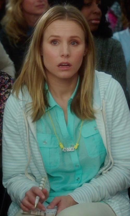 Kristen Bell with Boden The Longer Length Linen Shirt in Bad Moms