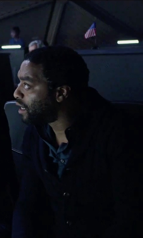 Chiwetel Ejiofor with Pendleton Dressy Knit Jacket in The Martian