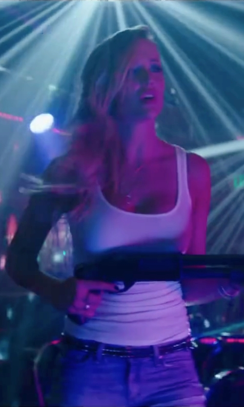 Sarah Dumont with Orciani Studded Buckle Belt in Scout's Guide to the Zombie Apocalypse