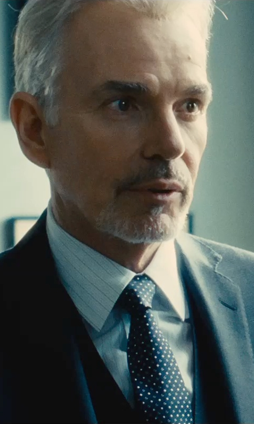 Billy Bob Thornton with Corneliani Chain Striped Dress Shirt in The Judge