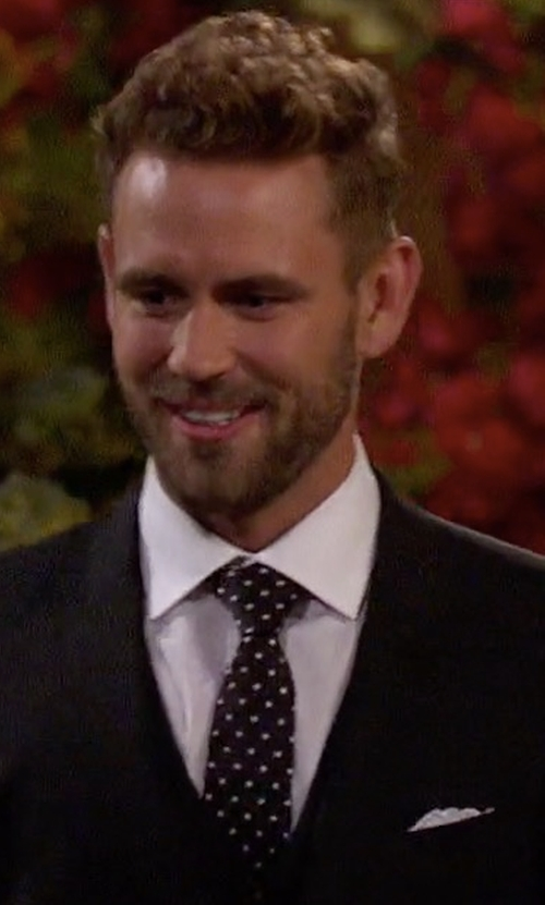 Nick Viall with Daniel George Custom Made Pocket Square in The Bachelor