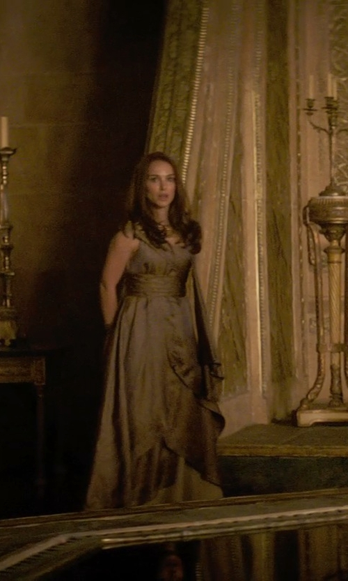 Natalie Portman with Wendy Partridge (Costume Designer) Custom Made Bronze Asgardian Dress (Jane Foster) in Thor: The Dark World