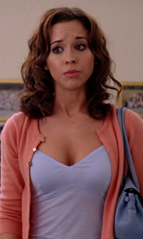 Lacey Chabert with Topshop Boutique Sandwashed Silk Camisole in Mean Girls