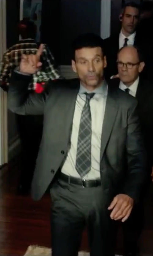 Frank Grillo with DKNY Iridescent Solid Slim-Fit Suit in The Purge: Election Year
