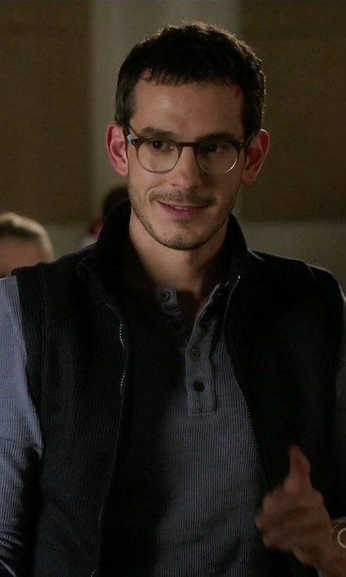 Tate Ellington with Members Only Stretch Neoprene Vest in Quantico