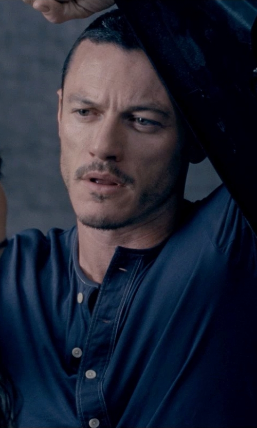 Luke Evans with Grant Rugger The Granpa Lightweight Henley in Fast & Furious 6
