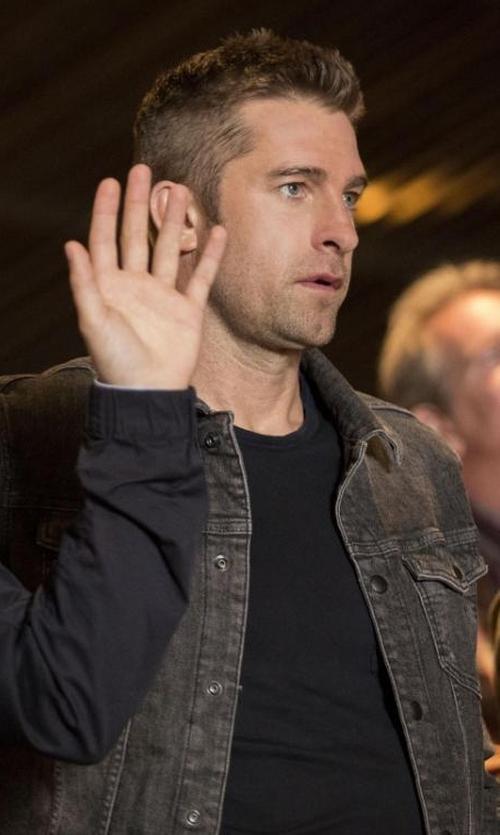 Scott Speedman with Visvim Denim Damaged Jacket in Animal Kingdom