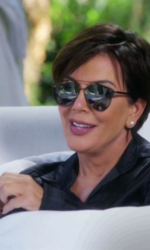 Kris Jenner with Mauro Grifoni Leather Jacket in Keeping Up With The Kardashians