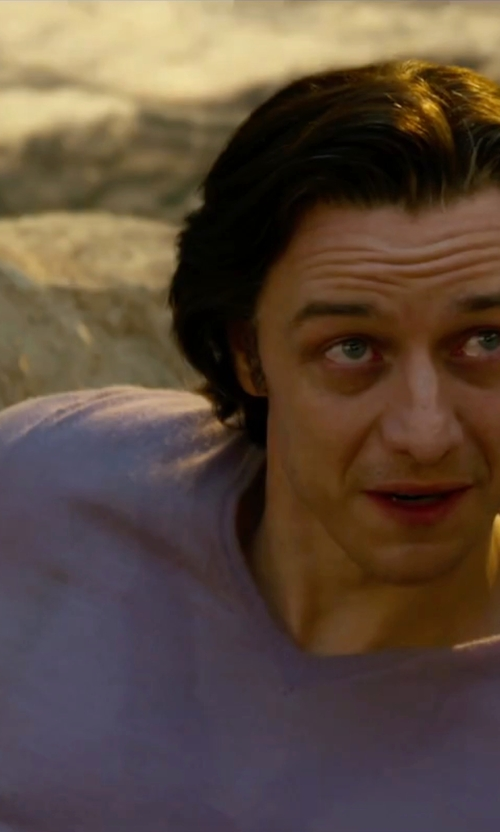 James McAvoy with Land's End Men's Gauge Cashmere V-Neck Sweater in X-Men: Apocalypse