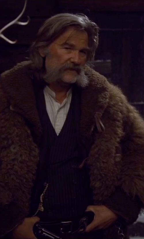 Kurt Russell with John Varvatos Stripe Vest in The Hateful Eight