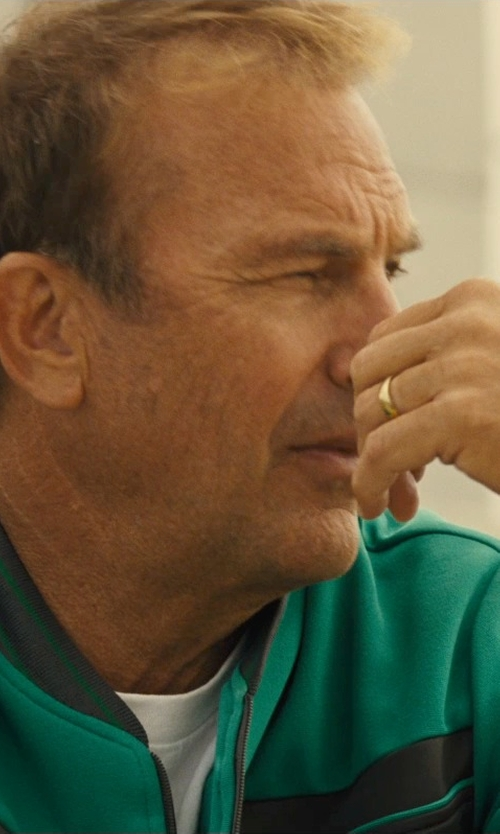 Kevin Costner with Zales Men's Wedding Band in McFarland, USA