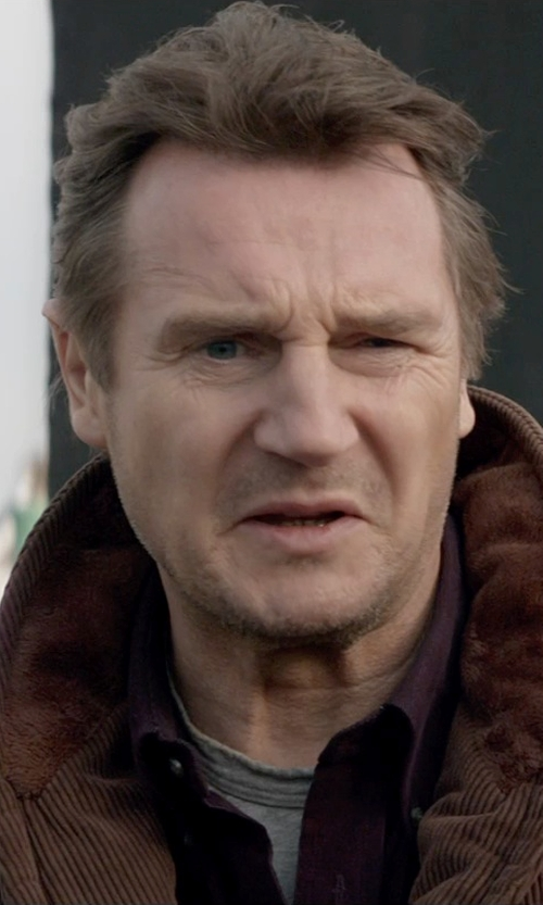 Liam Neeson with Burberry London Treyforth Shirt in A Walk Among The Tombstones