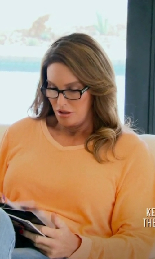 Caitlyn Jenner with Dolce & Gabbana  Square Plastic Eyeglasses in Keeping Up With The Kardashians