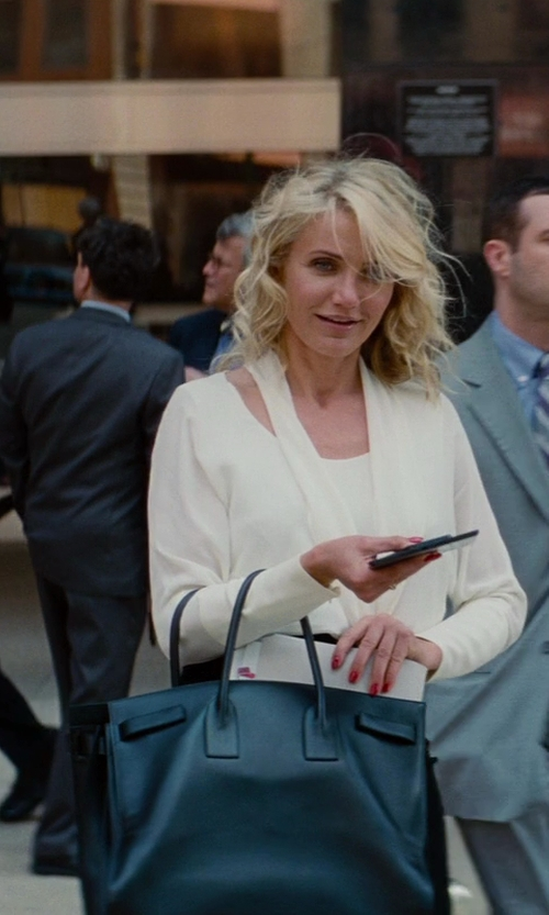 Cameron Diaz with Saint Laurent Sac De Jour Top Handle Bag in The Other Woman