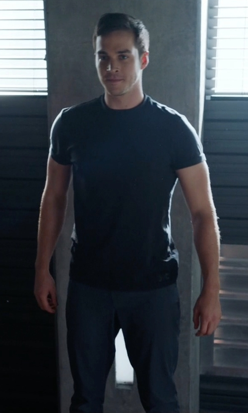 Chris Wood with Under Armour Men's UA Circuit Woven Tapered Pants in Supergirl