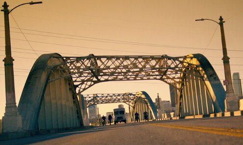 Sixth Street Viaduct Los Angeles, California in The Purge: Anarchy