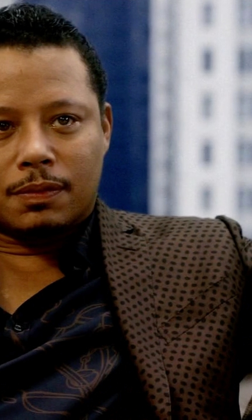 Terrence Howard  with Kenzo UFO Print Shirt in Empire