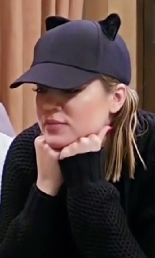 Khloe Kardashian with Kendall + Kylie Cat Ear Baseball Hat in Keeping Up With The Kardashians