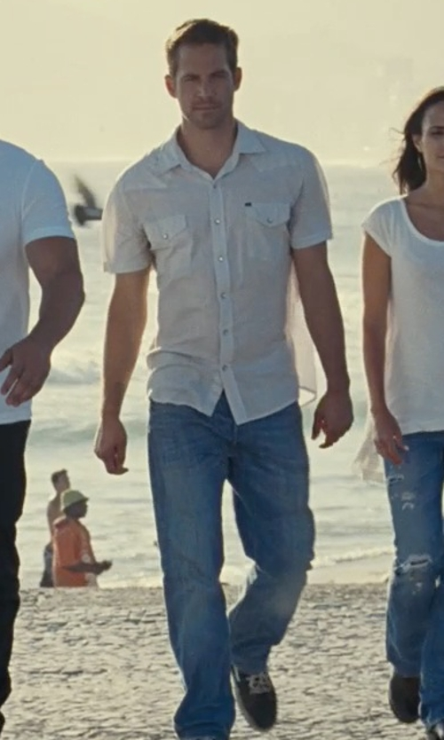 Paul Walker with 7 For All Mankind Austyn Luxe Performance Jeans in Fast Five