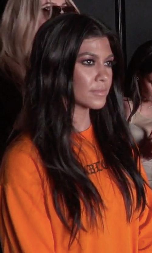 Kourtney Kardashian with Kanye West The Life of Pablo Orange Long Sleeve T-Shirt in Keeping Up With The Kardashians