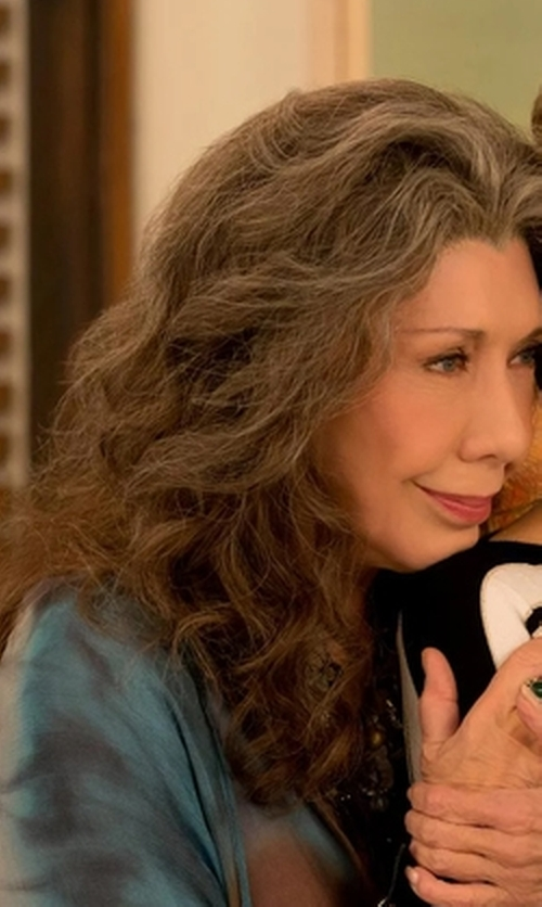 Lily Tomlin with Raquel Allegra Chiffon Henley Top in Grace and Frankie