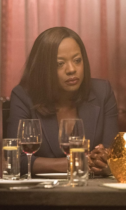 Viola Davis with PS by Paul Smith Mottled Wool-Flannel Blazer in How To Get Away With Murder