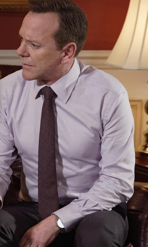 Kiefer Sutherland with Shinola Runwell Bracelet Watch in Designated Survivor