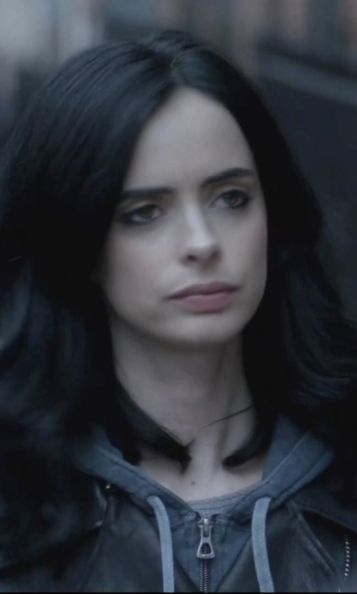 Krysten Ritter with Eleventy Zipped Hoodie in Jessica Jones
