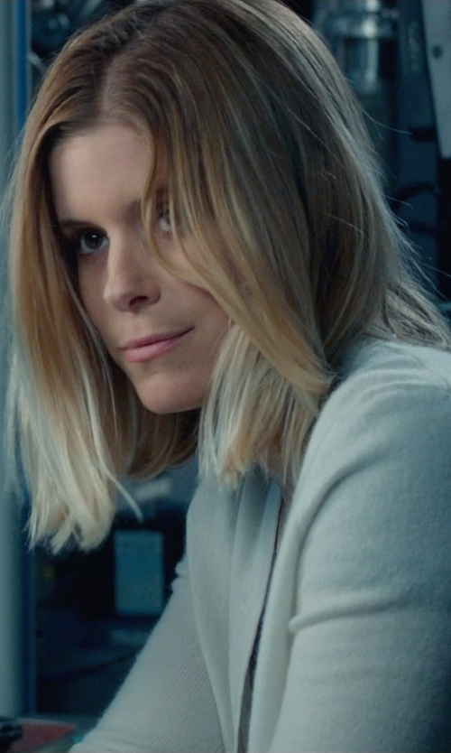 Kate Mara with Vince Draped Cashmere Cardigan in Fantastic Four