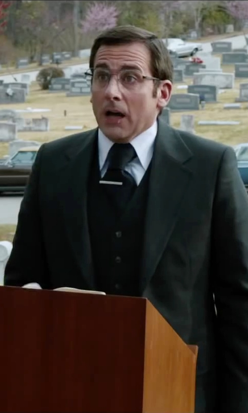 Steve Carell with Neiman Marcus Non-Iron Classic-Fit Textured Dress Shirt in Anchorman 2: The Legend Continues