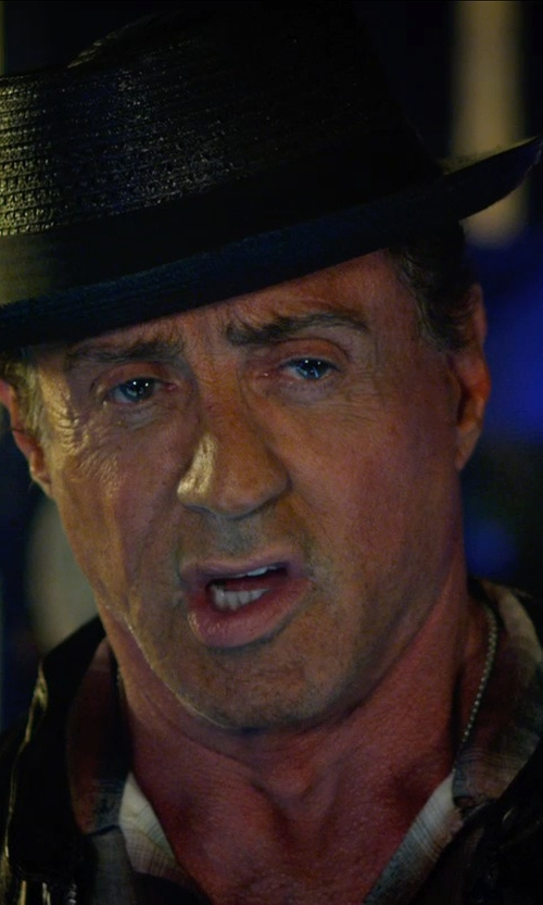 Sylvester Stallone with Urban Outfitters Bailey Of Hollywood Bailey Billy Fedora in The Expendables 3