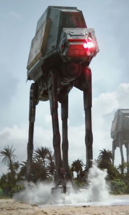 Unknown Actor with Star Wars AT-AT Die Cast Vehicle in Rogue One: A Star Wars Story