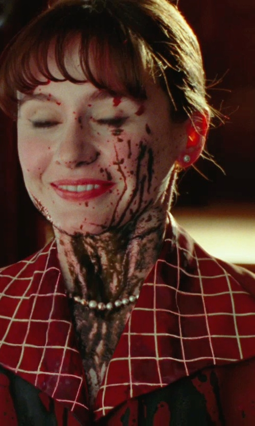 Emily Mortimer with Sandy Powell (Costume Designer) Custom Made Red Poplin Shirt Dress (Emily Mortimer) in Shutter Island