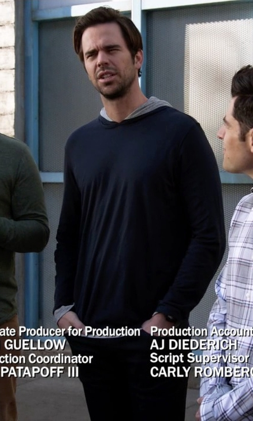 David Walton with Boss Mix & Match Stretch Cotton Hoodie in New Girl