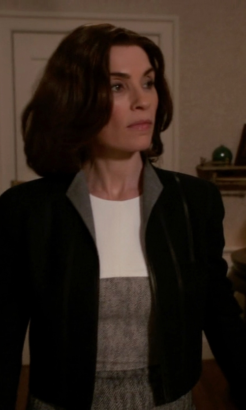 Julianna Margulies with Red Valentino Cropped Jacket With Lace Up Sides in The Good Wife