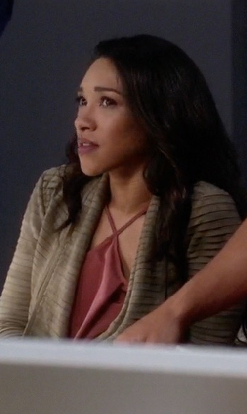 Candice Patton with Leith Halter Crop Top in The Flash