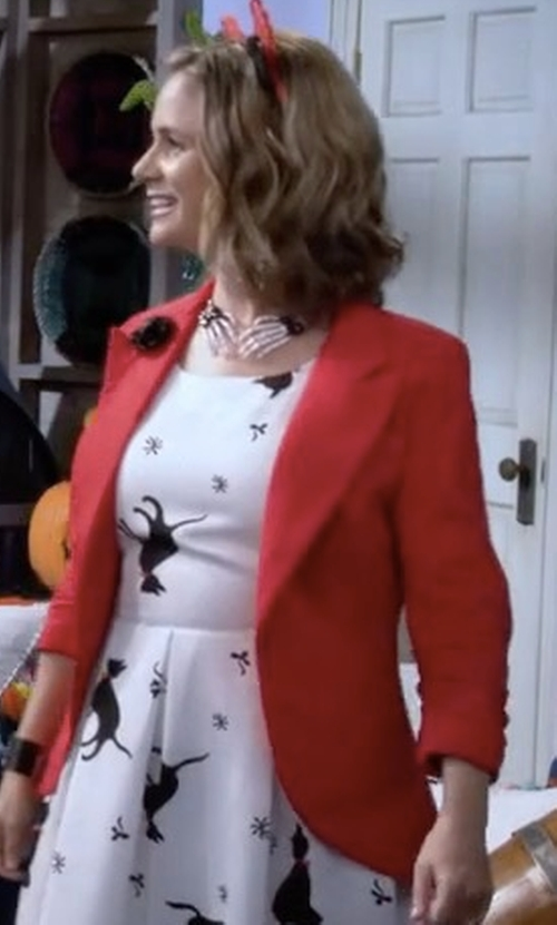 Andrea Barber with Modcloth Fine and Sandy Blazer in Fuller House
