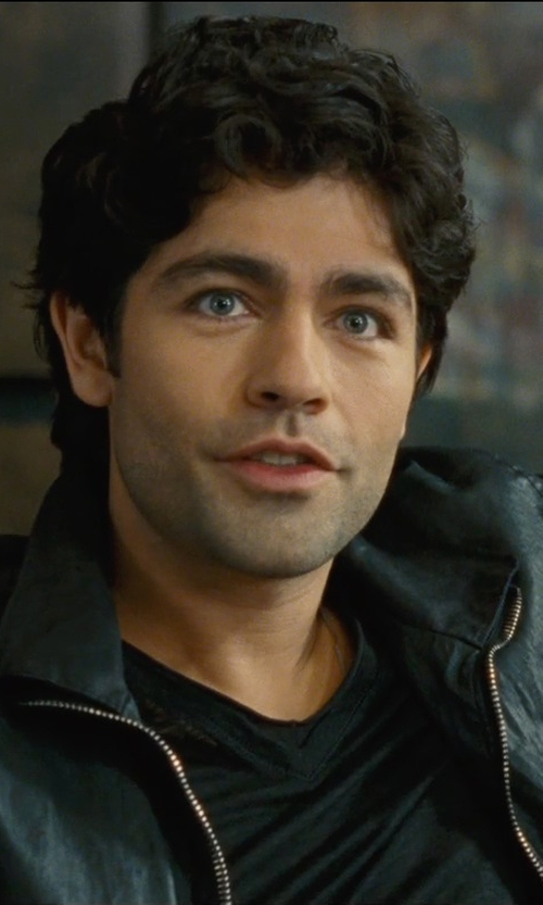 Adrian Grenier with John Varvatos Collection V-Neck Linen T-Shirt in Entourage
