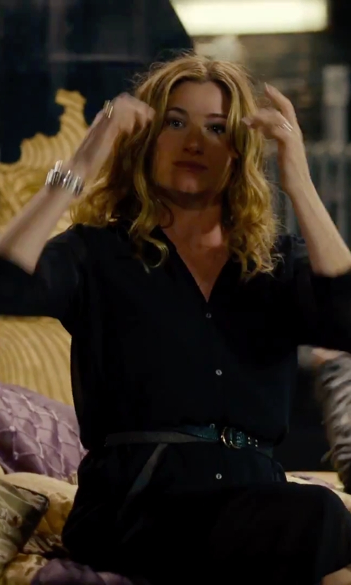 Kathryn Hahn with Halogen Leather Belt in She's Funny That Way