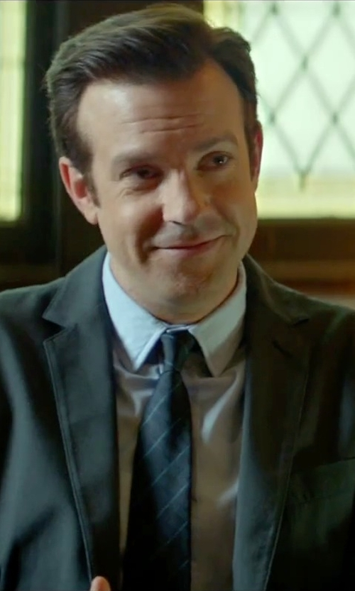 Jason Sudeikis with Forzieri Pencil Stripe Silk Twill Tie in Sleeping with Other People